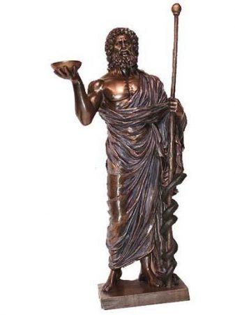 Aesculapius szobor / gyógyítás istene/