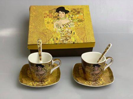 Klimt kávés szett díszdobozban