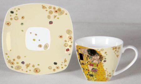 Klimt kávés csészék díszdobozban