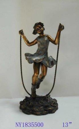 Ugrálókötelező lány szobor