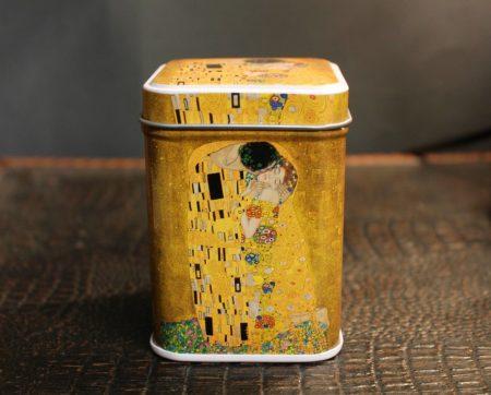 Fém kisdoboz Klimt festménnyel