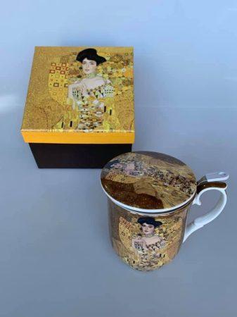 Klimtes teás pohár szűrővel