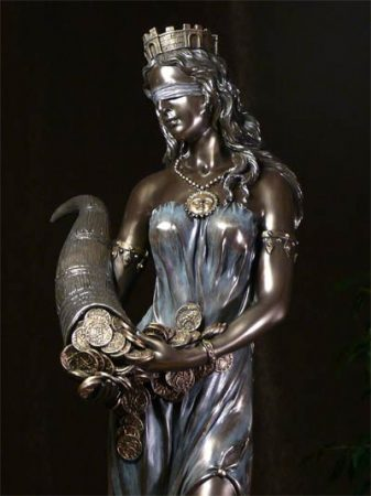 Fortuna istennő szobor 66 cm
