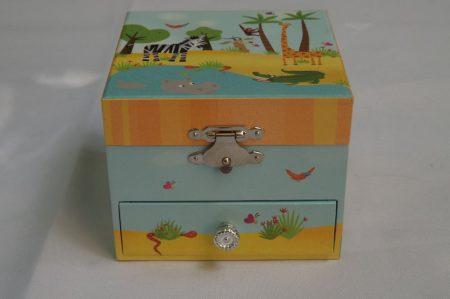 Tigrises zenélő doboz