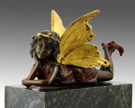 Angyal bronz szobor