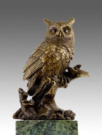 Bagoly bronz szobor