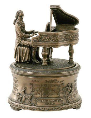 Mozart zenélő szobor