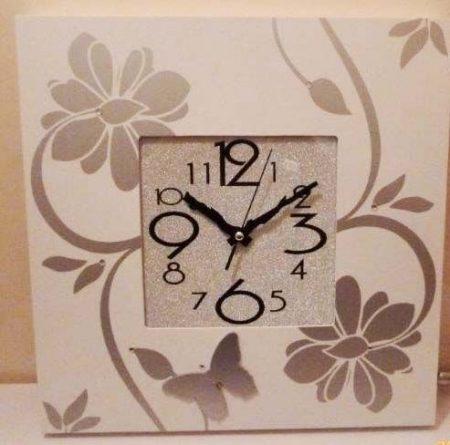 Design virágos fali óra